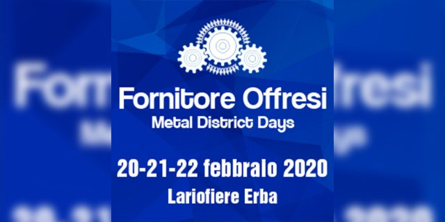 Sei Filtration at FORNITORE OFFRESI – Metal District Days 2020 trade show